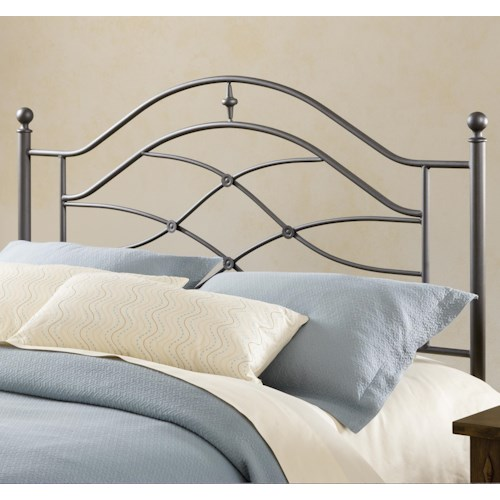 Morris Home Furnishings Metal Beds Cole Metal Full/Queen Headboard with Rails