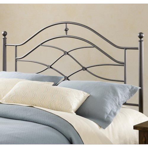 Morris Home Furnishings Metal Beds Cole Metal King Headboard with Rails