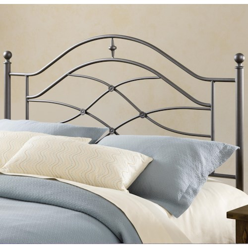 Morris Home Furnishings Metal Beds Twin Headboard with Rails