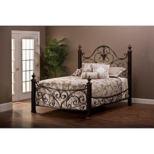 Hillsdale Metal Beds Metal Queen Bed Set with Rails