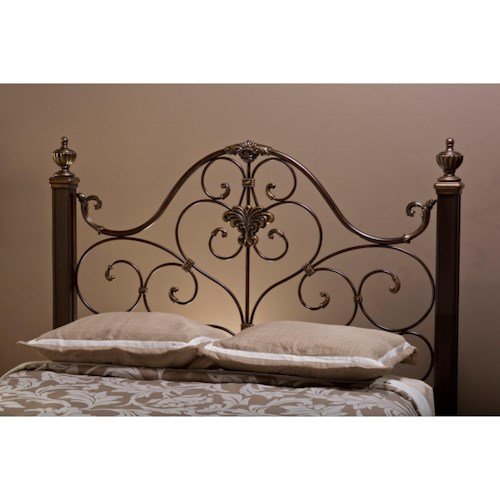 Morris Home Furnishings Metal Beds Metal Queen Headboard with Rails
