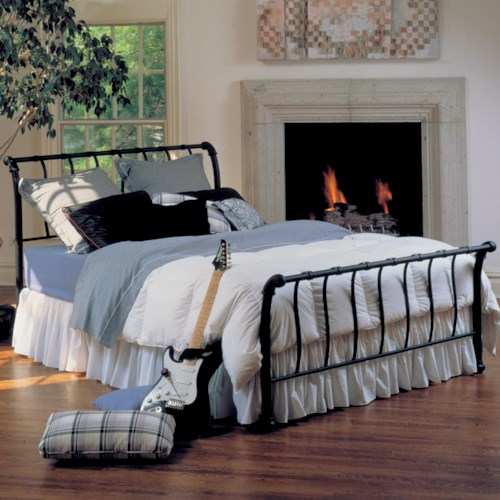 Morris Home Furnishings Metal Beds King Janis Bed