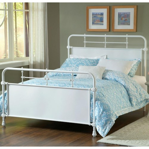 Morris Home Furnishings Metal Beds King Kensington Bed w/ Rails