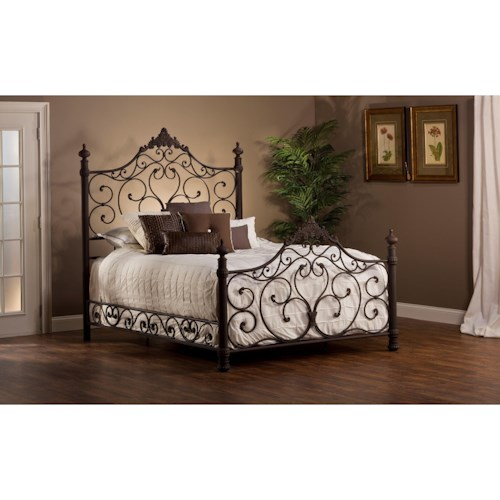 Hillsdale Metal Beds Metal Queen Bed Set with Rails