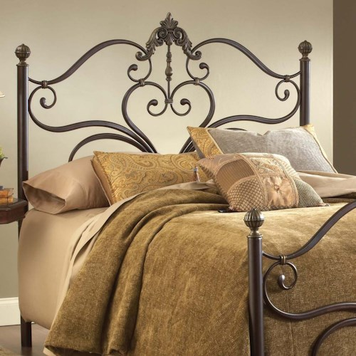 Morris Home Furnishings Metal Beds Newton Queen Headboard with Heart Motif and Rails