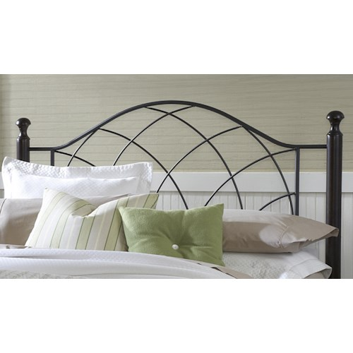 Morris Home Furnishings Metal Beds Vista Twin Headboard with Rails
