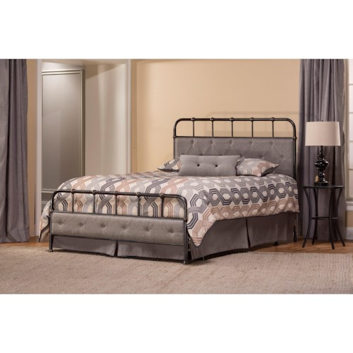Morris Home Furnishings Metal Beds Utilitarian King Bed Set