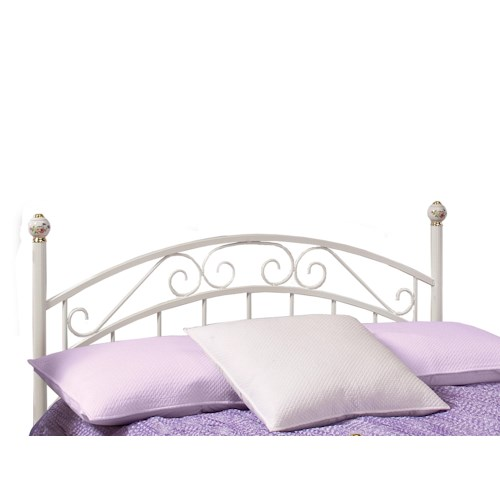 Morris Home Furnishings Metal Beds Emily Metal Full Headboard and Rails
