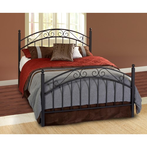 Morris Home Furnishings Metal Beds Twin Willow Bed Set - Rails not included