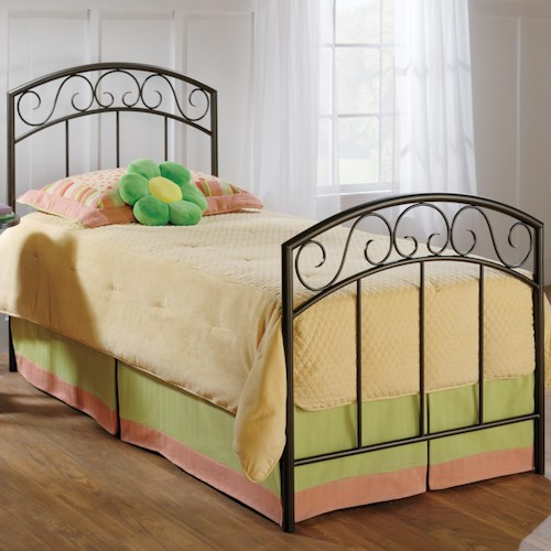 Hillsdale Metal Beds Twin Copper Pebble Wendell Bed
