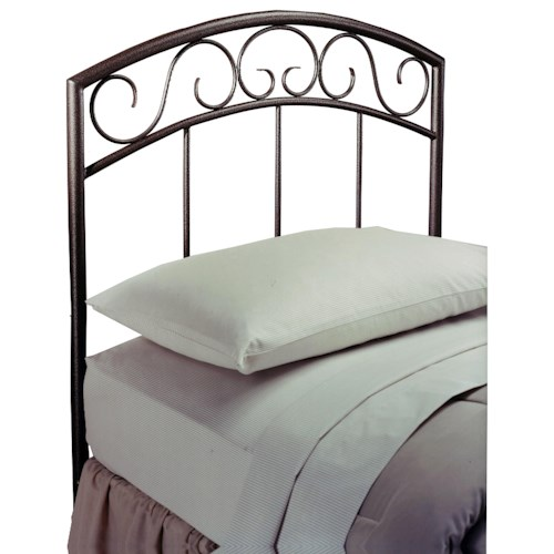 Morris Home Furnishings Metal Beds Twin Wendell Headboard with Rails