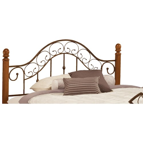Morris Home Furnishings Metal Beds Full/Queen San Marco Headboard with Rails