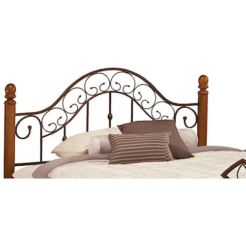 Morris Home Furnishings Metal Beds King San Marco Headboard with Rails