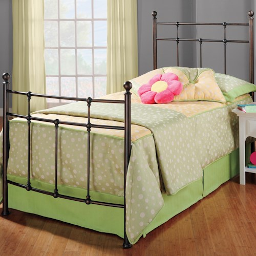 Morris Home Furnishings Metal Beds Twin Providence Bed