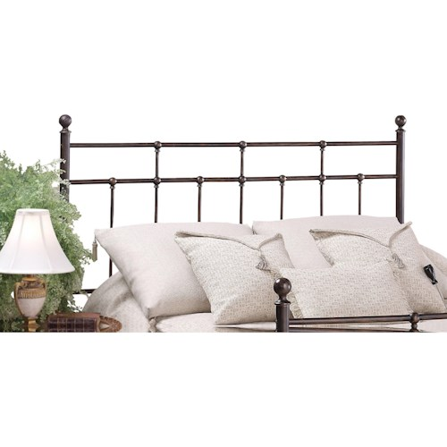 Morris Home Furnishings Metal Beds Twin Providence Headboard with Rails