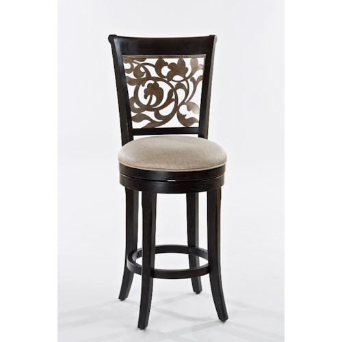 Hillsdale Benning Swivel Bar Stool with Flared Feet
