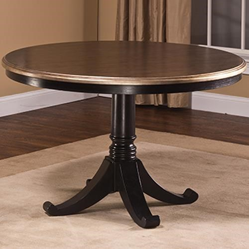 Hillsdale Bennington Pedestal Table with Two Tone Finish