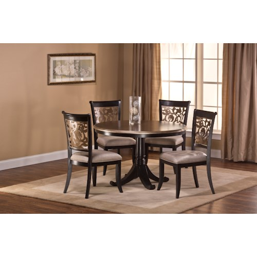 Hillsdale Benning 5 Piece Dining Set with Elegant Chair Backs