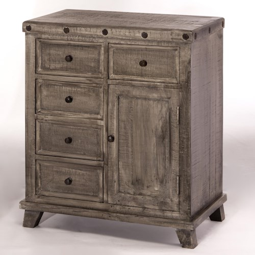 Morris Home Furnishings Bolt Rustic Tier Cabinet
