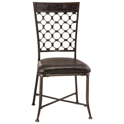 Morris Home Furnishings Brescello  Dining Chair with Geometric Backrest