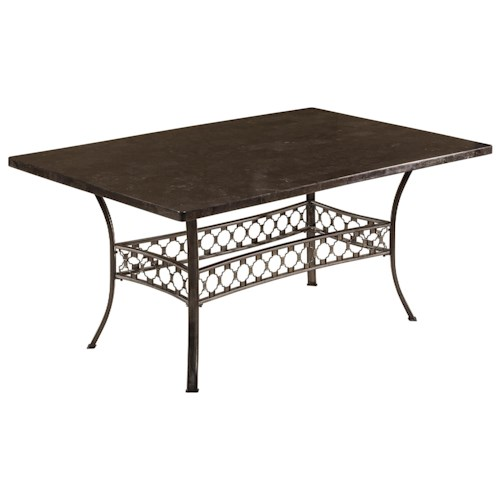 Morris Home Furnishings Brescello  Rectangle Dining Table with Bluestone Top