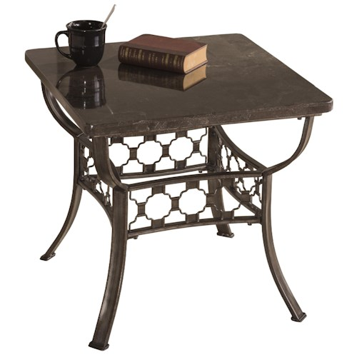 Hillsdale Brescello  Square End Table with Bluestone Top