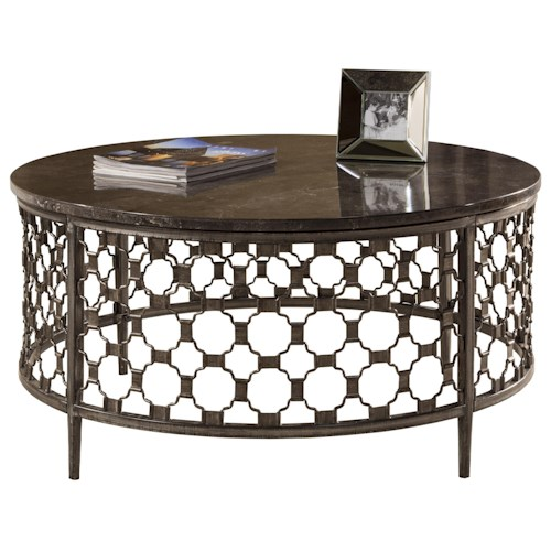 Hillsdale Brescello  Round Coffee Table with Bluestone Top