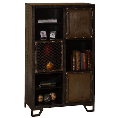 Morris Home Furnishings Bridgewater Rustic Display Cabinet