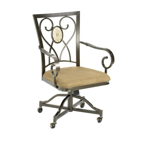Hillsdale Brookside Oval Caster Dining Chair