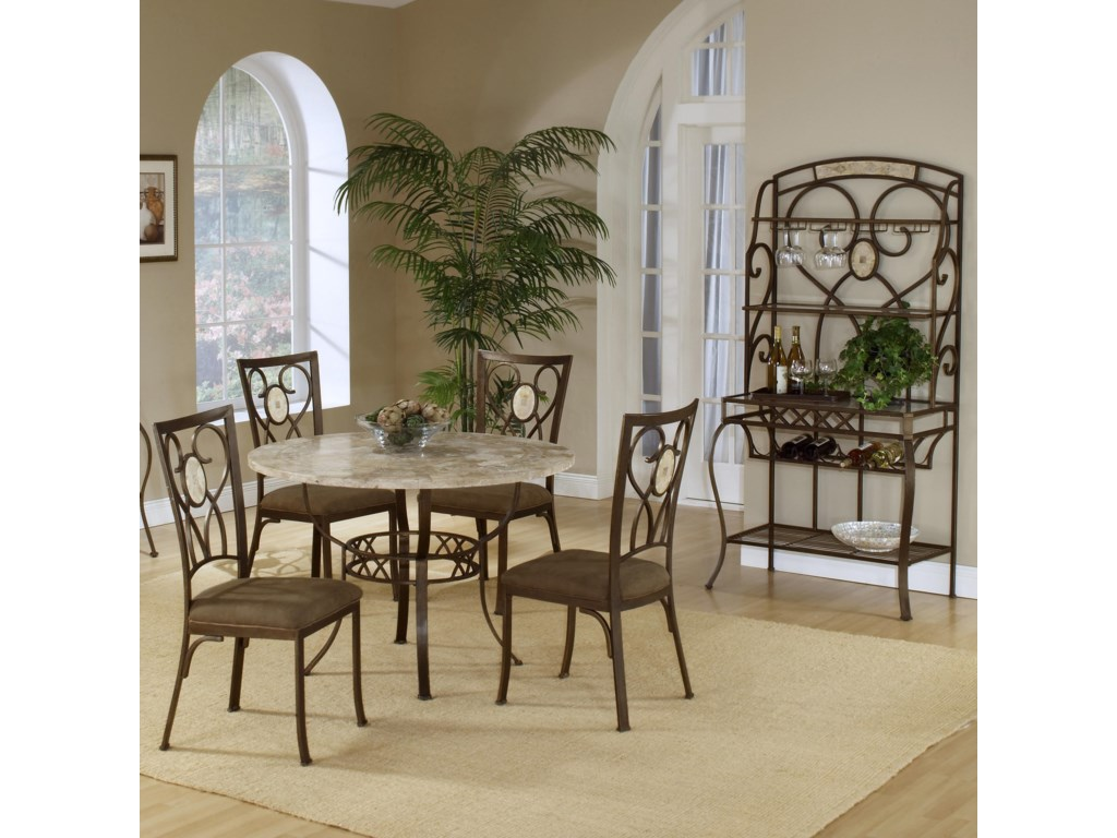 Shown with Round Dining Table and Oval Back Chairs