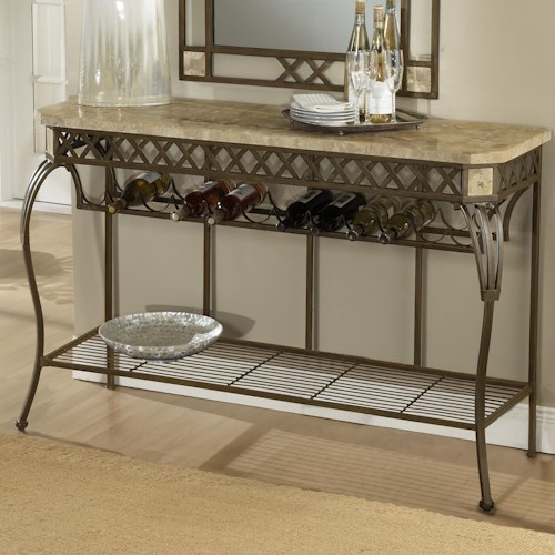 Morris Home Furnishings Brookside Server w/ Wine Rack