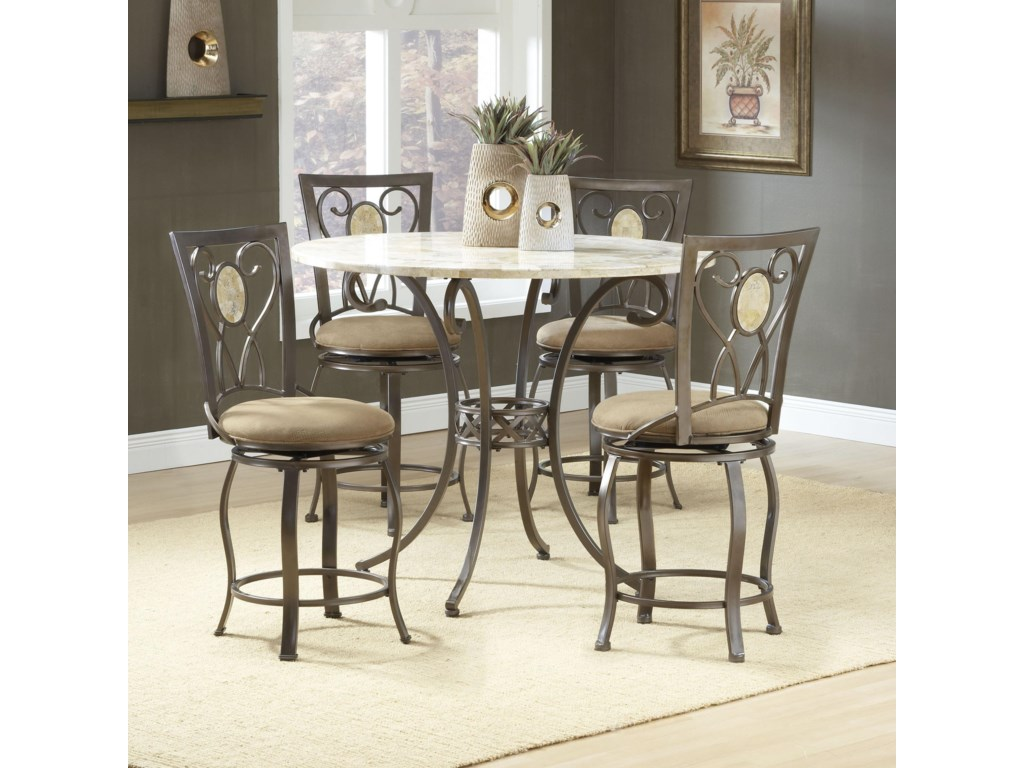 Shown with Oval Back Stools