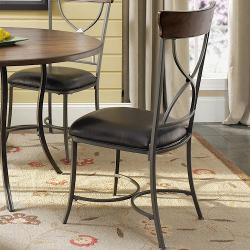 Morris Home Furnishings Cameron X-Back Dining Side Chair