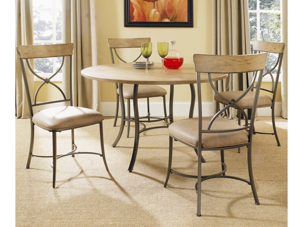 Shown with Round Metal Base Table