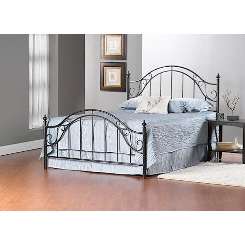 Hillsdale Clayton Bed Set - King - w/Rails