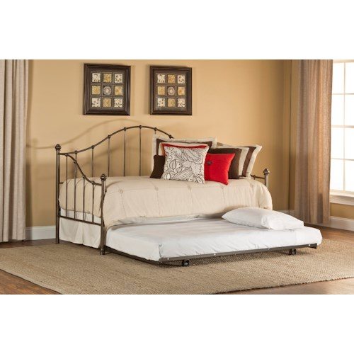 Hillsdale Daybeds Amy Daybed with Suspension Deck, Trundle, and Arched Details
