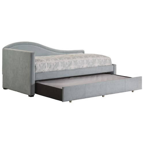 Hillsdale Daybeds Upholstered Curving Daybed with Trundle