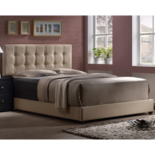 Morris Home Furnishings Duggan Upholstered King Bed With Tufted Headboard