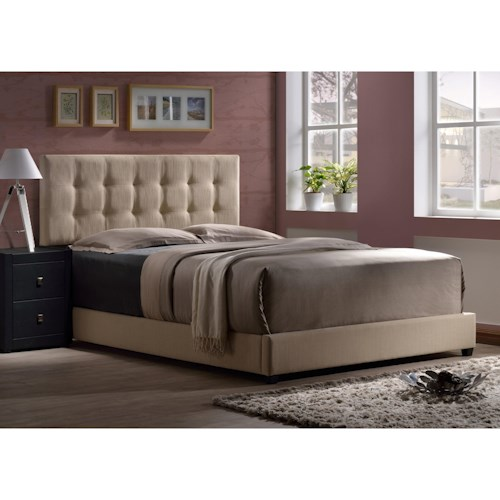 Hillsdale Duggan Upholstered Queen Headboard