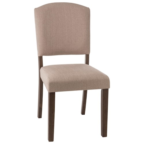 Morris Home Furnishings Emerson  Parson Dining Chair with Upholstered Seat