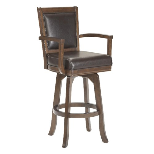 Morris Home Furnishings Game Stools & Chairs Ambassador Swivel Bar Stool