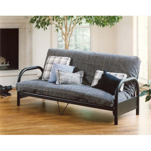 Morris Home Furnishings Geneva Full Futon with Curved Arms