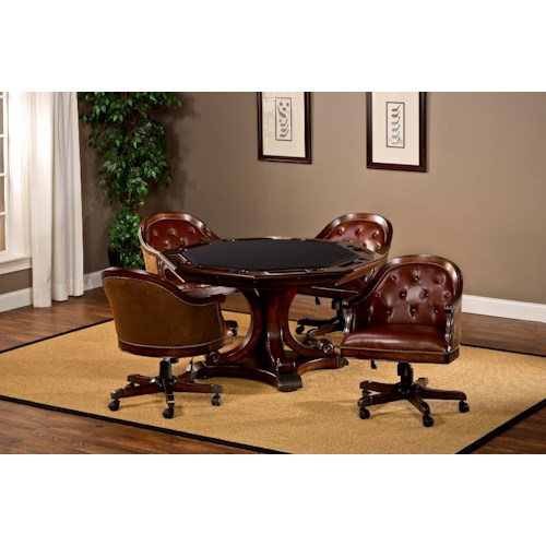 Hillsdale Harding 5 Piece Table and Chair with Casters Game Set