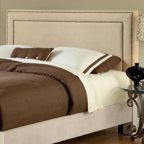 Hillsdale Headboards - Hillsdale Queen Fabric Headboard w/ Nail Head Trim