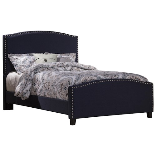 Morris Home Furnishings Kerstein King Bed Set with Rails Included and Nail-head Trim
