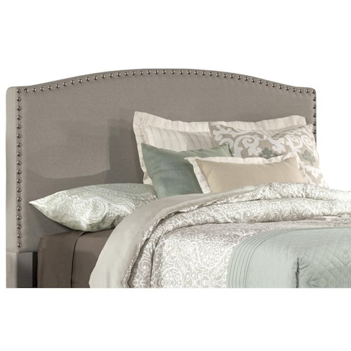 Morris Home Furnishings Kerstein Queen Headboard with Frame Included and Nail-head Trim
