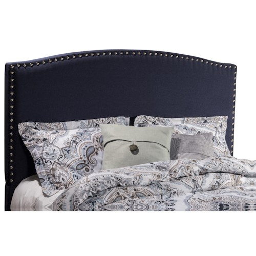 Morris Home Furnishings Kerstein Twin Headboard with Frame Included and Nail-head Trim