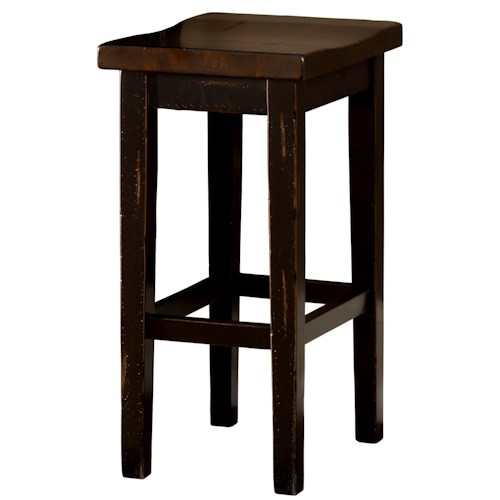 Morris Home Furnishings Killarney Backless Counter Stool with Contour Seat