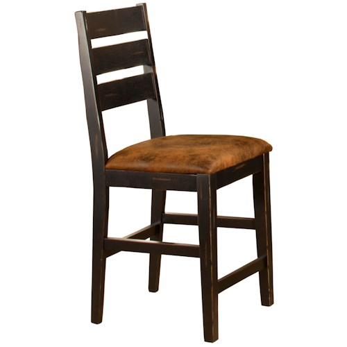 Morris Home Furnishings Killarney Ladder Back Counter Height Stools