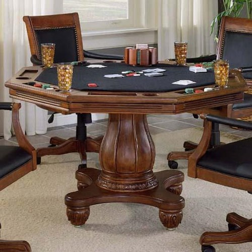 Hillsdale Kingston Single Pedestal Game Table
